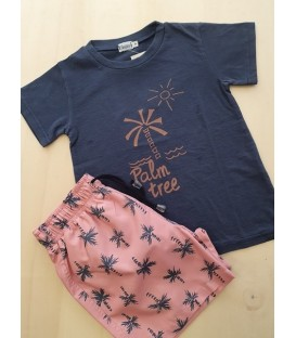 CAMISETA AZUL PALM TREE
